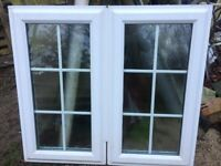 Pair uPVC double glazed windows with Georgian bars ideal for bathroom or cloakroom