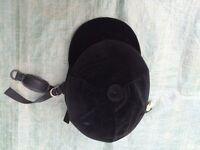 Riding Hat (Black) with Black Detachable Velvet Cover, Size 2 (56-57cm)