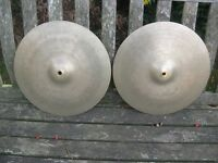 "Cymbals - Vintage 5 Star Super Zyn 14"" Hi Hat Cymbals Very Rare"