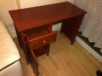 Solid Pine desk with dark wood stain