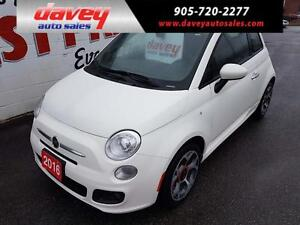 2016 Fiat 500 Sport BLUETOOTH, ALLOY WHEELS, CRUISE CONTROL