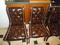 chesterfield dining chairs (set of 6)