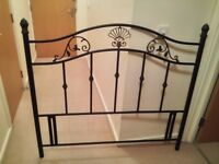 Metal double headboard