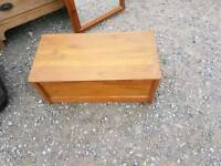 Small pine box trunk