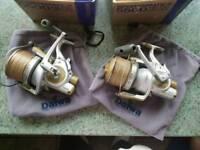2x Daiwa Sportsmatic-X 5500 BR Big Pit Fishing Reels