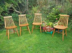 Mid Century 1960's Stick Back Dinning Chairs