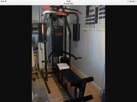 York 2002 multi gym with pec deck and bench. Good condition