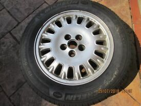 alloy wheel with 195/65 R15 michelin tyre for rover 75 estate