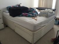 Free king size bed base and mattress
