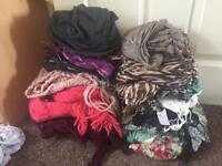 Bundle of 15 scarves - some with tags!