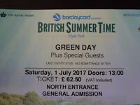 Green Day at BST Hyde Park 1st July 2017