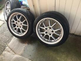 BMW 5x120 BBS rk500 2 piece splits