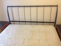 Metal king size bed