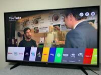 "43"" LG 4K UHD LED SMART TV 4K NETFLIX YOUTUBE Full HD 1080p USB WiFi Freeview HD FreeSat CAN DELIVER"