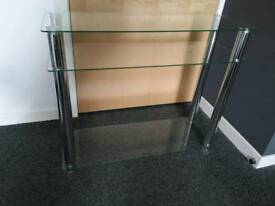 Glass Console Table or Shelving Unit Shelf - £20 - Glenrothes