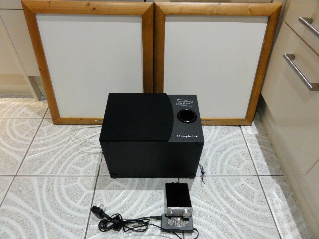 Wharefdale PPS 1S NXT flat panel speakers plus SMSL SA-50 2x50W D-AMP