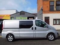 Finance me from £7.51 a day..Vauxhall Vivaro LWB Sport 6 seat factory fitted crew cab 62 plate (14)
