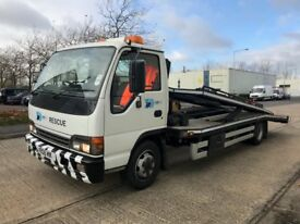 Isuzu nqr 70 twin deck car recovery truck