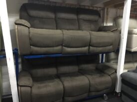 New/Ex Display Heathy LazyBoy 3 Seater + 3 Seater Recliner Sofas