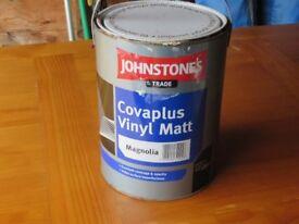 JOHNSTONES TRADE COVAPLUS VINYL MATT - MAGNOLIA 5LTRS