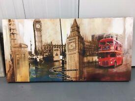 Large London Canvas Painting