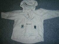 Boys Next Overhead Rain Hoody with fleece lining 18-24months