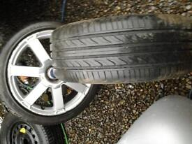 ford mondeo set of 4 18 inch alloys wheels and tyres