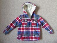 Boys M&S fleecy hooded jacket age 4-5