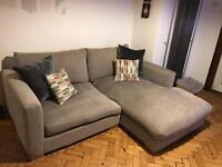 Beautiful grey fabric sofa