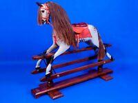 ADULT SIZE DAPPLE GREY STEVENSON BROS ROCKING HORSE