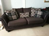 2x brown sofa set