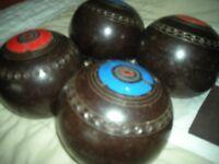 SET 4 HENSELITE BOWLS BROWN SIZE 6