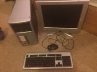 PC TOWER; MONITOR; KEYBOARD & MOUSE