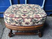 Vintage oak foot stool FREE DELIVERY PLYMOUTH AREA