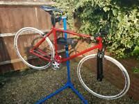 Custom built fixie road bike