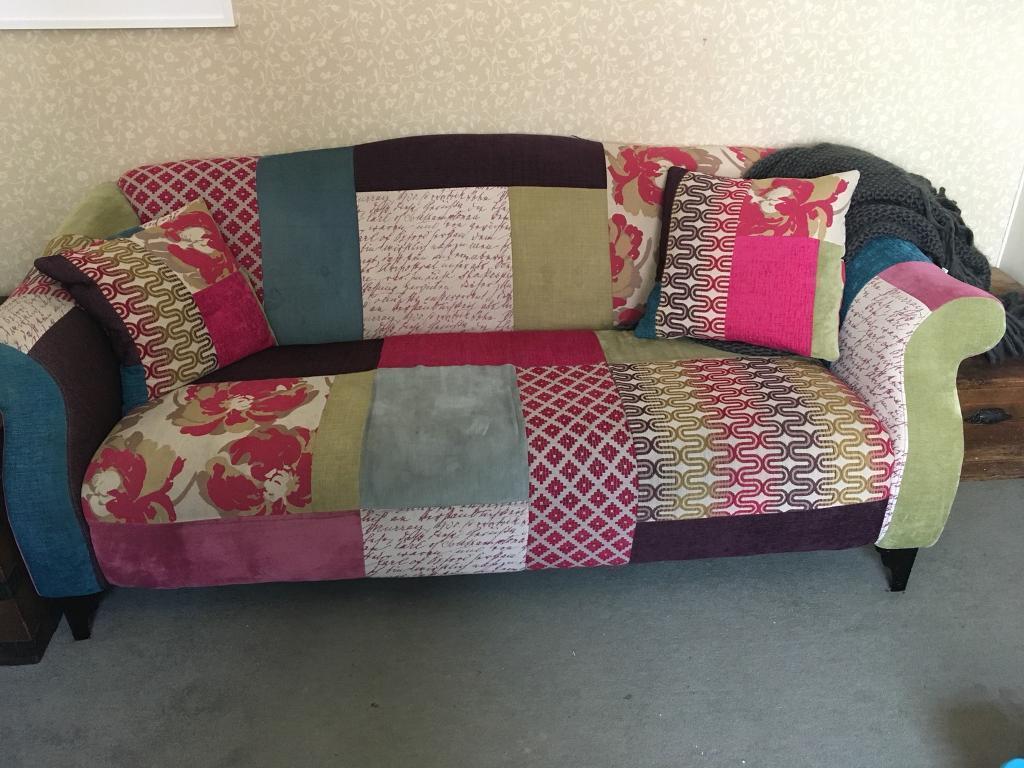 Sold Dfs Patchwork Sofa In Exmouth Devon Gumtree