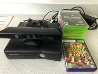 X Box 360 + Kinect with games