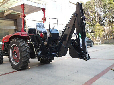 New Bh8600 Backhoe Attachment W 9 Ft Digging Depth 3 Point Hitch Pto Thumb
