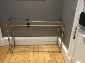 John Lewis Glass & Steel Console Table