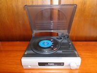 STEEPLETONE 3 SPEED RECORD PLAYER ST918 WITH BUILT IN SPEAKERS GREAT SOUND