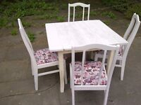 SHABBY CHIC TABLE and 4 chairs rustic