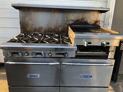 Royal Gas 6 Burner Range With 24 Griddle Lower Ovens