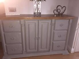 Solid sideboard with 6 drawers and cupboard