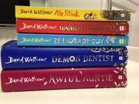 5 x David Walliams Kids Books