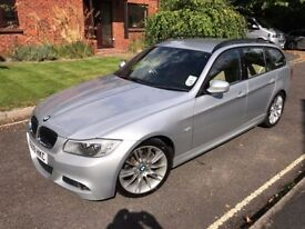 Great Condition BMW 3 Series 3.0 325i M Sport Touring 5dr Estate, 2009, Automatic, Petrol, Silver.