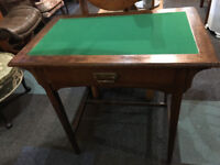 Lovely Victorian Oak Console/Writing/Side Table with Single Drawer
