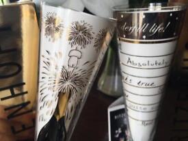 Designer champagne glasses