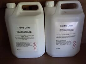 2 x 5 litre bottles strong strong Traffic Lane carpet cleaning machine shampoo highly perfumed