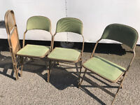 JOB LOT Retro Vintage Industrial Look Interlocking Folding Chair SANDLER SEATING upcycle Project