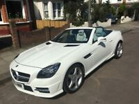 Mercedes SLK 250 CDI Blue efficiency AMG Sport Auto in white, Pano Roof, Air-Scarf